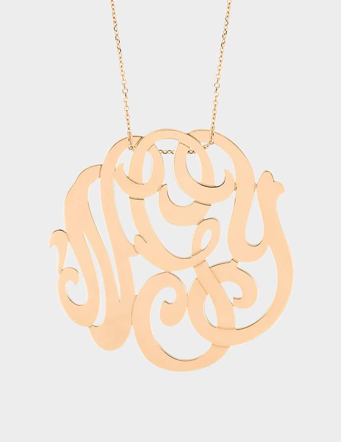 ginette_ny Rose Gold Monogram necklace
