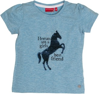 Salt&Pepper Salt and Pepper Girl's T-Shirt Horses uni Sequins