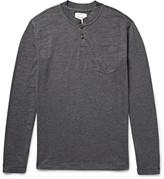 Steven Alan - Mélange Cotton-jersey Henley T-shirt