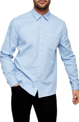 Topman Slim Fit Solid Button-Up Shirt