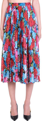 Versace Skirt In Red Viscose