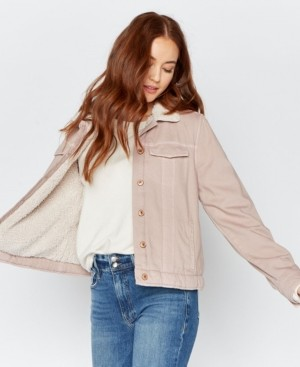 Thread and Supply Thread Supply Faux Sherpa Lined Denim Jacket