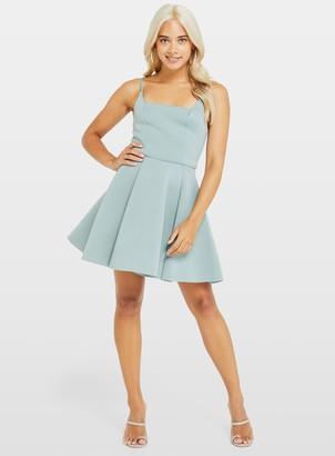 Miss Selfridge PETITE Pale Green Scuba Prom Dress
