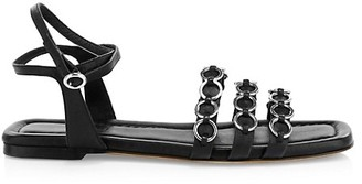 3.1 Phillip Lim Alyse O-Ring Flat Leather Sandals