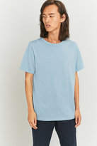 Uo Light Blue Pigment Dye Crewneck T-shirt