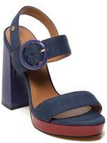 Tommy Hilfiger Final Sale- Denim Platform Sandal