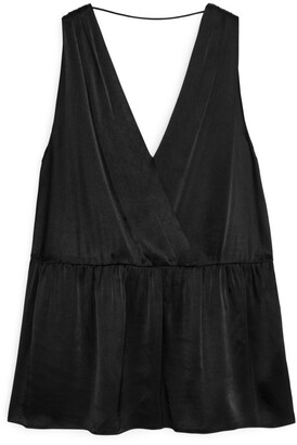 Arket Sleeveless Gathered Top