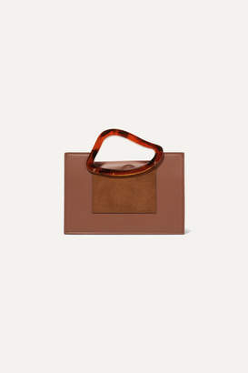 Naturae Sacra - Arp Mini Suede-trimmed Leather And Resin Tote - Tan