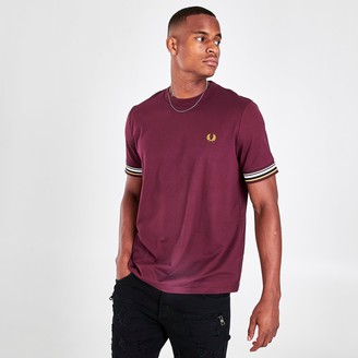 Fred Perry Men's Striped Cuff T-Shirt