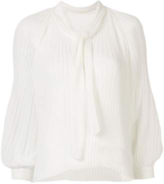 TOMORROWLAND pleated long-sleeved blouse