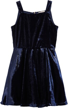 Hannah Banana Kids' Sleeveless Velvet Skater Dress