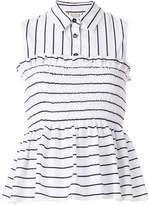 Pinko sleeveless striped top