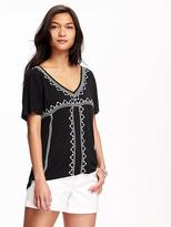 Old Navy Relaxed Embellished Tee for Women