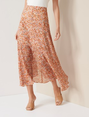 Ever New Bronte Button Front Midi Skirt