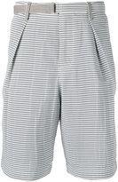 Sacai Hickory stripe shorts - men - Cotton/Polyester - 3
