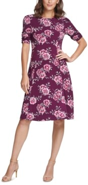 Jessica Howard Floral-Print Jersey Dress