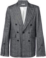 Ann Demeulemeester striped double breasted blazer