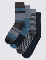 Marks and Spencer 4 Pairs of Lambswool Blend Assorted Socks