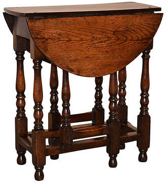 One Kings Lane Vintage 18th-C. English Gate Leg Table - Black Sheep Antiques
