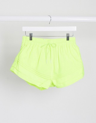 FREE PEOPLE MOVEMENT check it out shorts in yellow