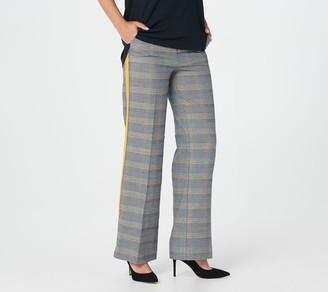 G.I.L.I. Got It Love It G.I.L.I. Regular Wide-Leg Plaid Pants with Stripe Detail