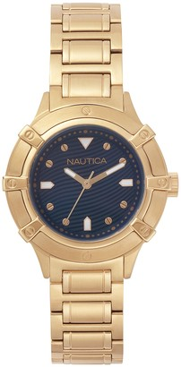 Nautica Women's Analogue Classic Quartz Watch with Stainless Steel Strap NAPCPR005