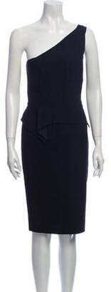 Roland Mouret One-Shoulder Knee-Length Dress Black