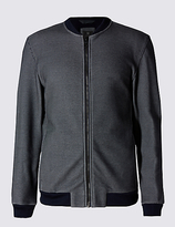 Limited Edition Tailored Fit Textured Baseball Fleece Top