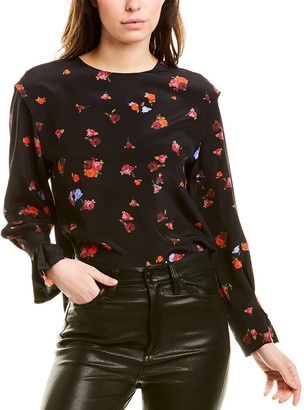 Jason Wu Floral Silk Top