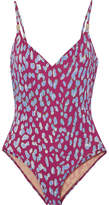 On The Island By Marios Schwab - Asterias Leopard-print Swimsuit - Claret