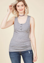 ModCloth Confidence to Create Tank Top in Grey in S