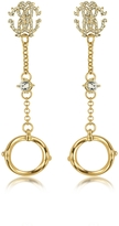 Roberto Cavalli RC Lux Gold Tone Earrings w/Crystals