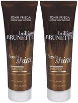 John Frieda Brilliant Brunette Liquid Shine Illuminating Shampoo - 8.45 oz - 2 pk
