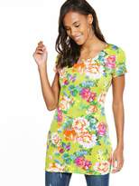 Very Floral Print Scuba Tunic