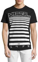 Diesel T-Diego-OD Logo T-Shirt, Black
