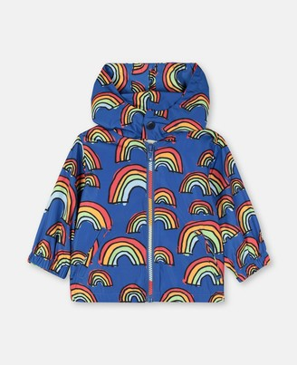 Stella McCartney Scribble Rainbow Polyester Jacket, Unisex