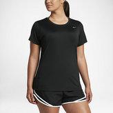 Nike Dry Miler Women's Short Sleeve Running Top (Plus Size 1X-3X)