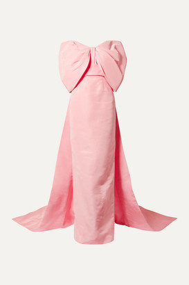 Monique Lhuillier Off-the-shoulder Silk-faille Gown - Baby pink