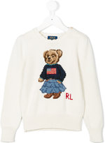 Ralph Lauren embroidered intarsia sweater