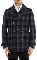 Z Zegna Wool Checkered Coat