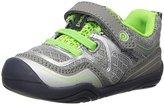 pediped Force Sneaker (Toddler/Little Kid/Big Kid), Silver Navy, 31 (US 13-13.5 Little Kid) M