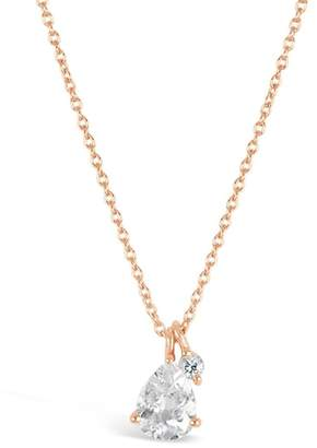 Dinny Hall Rose Gold Gem Drop Pendant