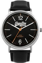 Superdry Men's SYG194B Oxford Leather Analog Display Quartz Watch