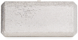 Judith Leiber Slim Rectangle Fullbead Clutch Bag