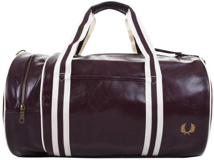 Fred Perry Classic Barrel Bag Burgundy