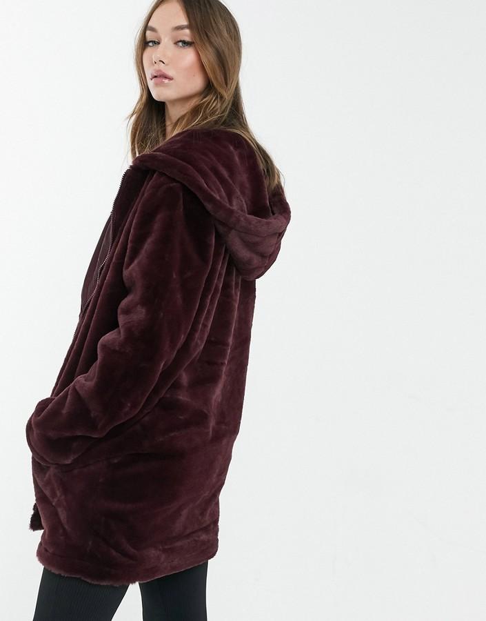 Thumbnail for your product : Brave Soul bernie faux fur hooded coat