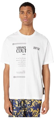 Versace 50/50 Over Fit T-Shirt (White) Men's Clothing