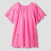Cat & Jack Girls' Short Sleeve Eyelet Dress Cat & Jack - Pink