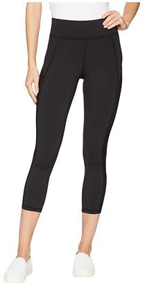 Michi Stardust Crop Leggings (Black) Women's Casual Pants