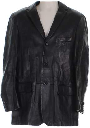 HUGO BOSS Black Leather Jackets